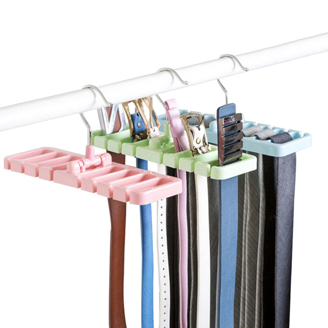 Multifuction New Storage Rack Tie Belt Hanger Rotating Holder Closet  Wardrobe Finishing Rack Space Saver Cabinet
