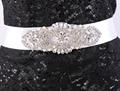 High Quality Rhinestone Beaded Belt Crystal Sash Wedding Accessories WX2145