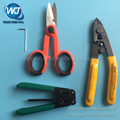 4 PCS FTTH Splice fiber optic tool kits Fiber Optic Tool Pixian Fibre stripping + optical fiber+ RUBICON RCZ-527 Kevlar scissors