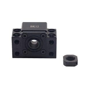 Image 3 - Extremidade ballscrew suporta 1pc bk12 + 1pc bf12 1605 1610 ballscrew final suporte 10mm peças cnc para sfu1605 sfu1610 bk10 bf10 forsfu1204