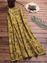 Женское летнее повседневное s 3xl платье с цветочным принтом