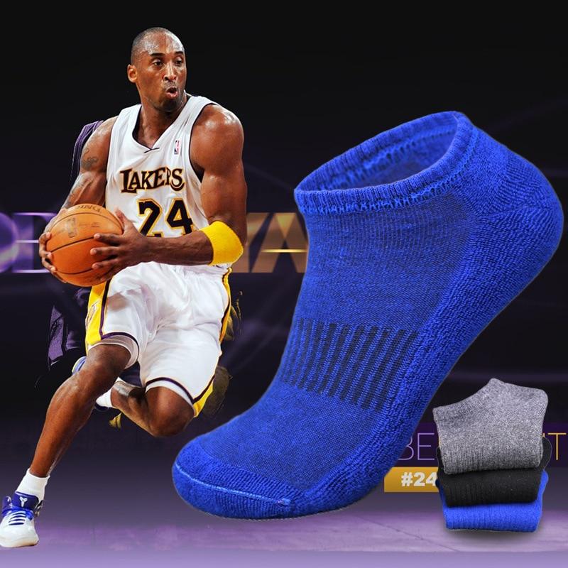 3 Pairs/lot Men Socks Terry Sports Sockken Running Basketball Cotton Socks Skarpetki Meskie Ankle Corap Chaussette Homme Summer
