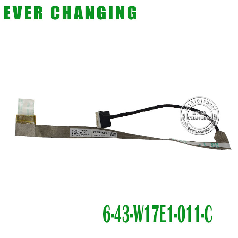 Free Shipping Laptop For Clevo W170ER LCD Cable 6-43-W17E1-011-C