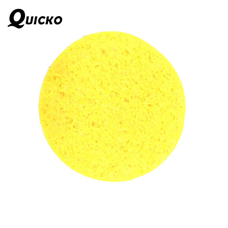 20pcs/lot Soldering Iron Tip Welding Cleaning Sponge Pads /High Temperature Enduring Round Shape 50*50*5mm