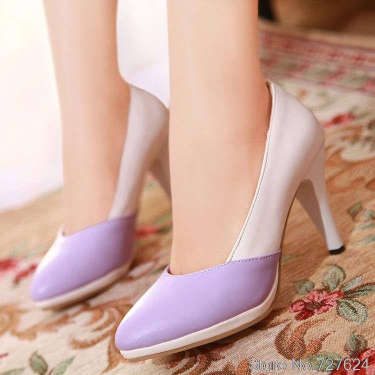 ФОТО Pumps new Women Shoes  Large size small yards 3 color 33 42  high heel 8.5CM Platform 1.5CM Thin Heels EUR size 32-43