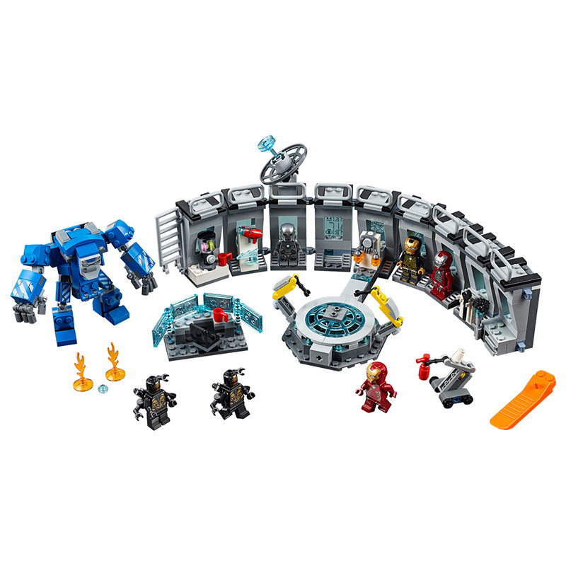 New Marvel Avengers Endgame Legoinglys Building Block Bricks Super Hero Iron Man Machine Kids Toys For Children