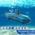 Бесплатная доставка Электрический Пульт Дистанционного Управления Подводной Лодки Собраны Игрушки Развивающие Научный Эксперимент Оборудование Скорость Гоночный Катер