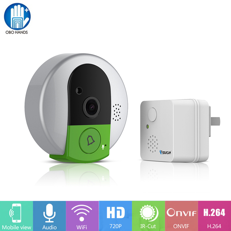 Vstarcam Wifi HD 720P Video Doorcam IP Camera Wireless Doorbell IR Night Vision Home Security Alarm System with Indoor Device zilnk video intercom hd 720p wifi doorbell camera smart home security night vision wireless doorphone with indoor chime silver