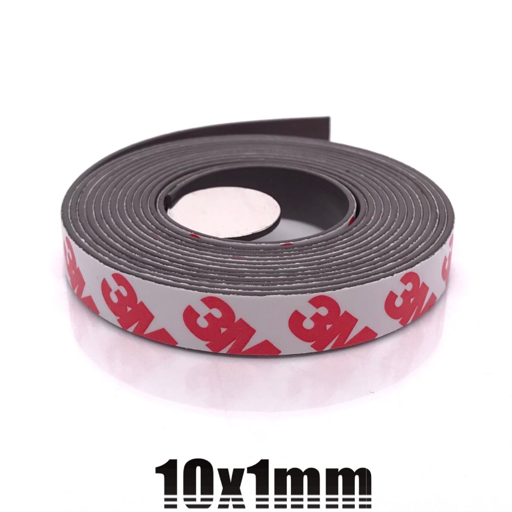 1Meters self Adhesive Flexible Magnetic Strip 10*1 20*1 30*1 1M Rubber Magnet Tape width 10mm 20mm 30mm thickness 1.5mm(China)