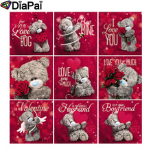 DIAPAI Diamond Painting 5D DIY Full Square/Round Drill Cartoon bear letter flower 3D Embroidery Cross Stitch Decor Gift