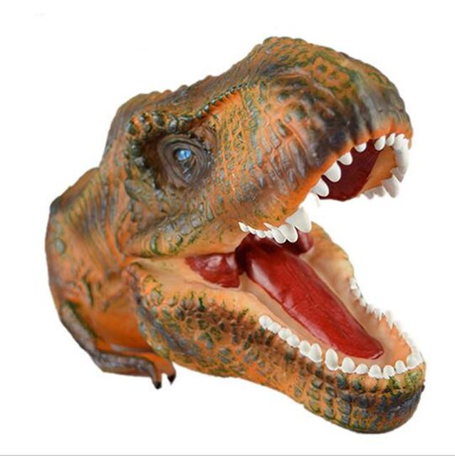 2017 Realista Tiranosaurio Rex Dinosaurio Marioneta Marioneta de Mano Modelo Pequeña Figura Juguetes modelo De dinosaurio de Plástico Juguetes Interactivos