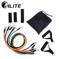 SILITE Fitness Uitrustingen Workout Weerstand Bands Latex 11 stks/set Oefening Pilates Buizen Pull Touw Expanders Training Praktische