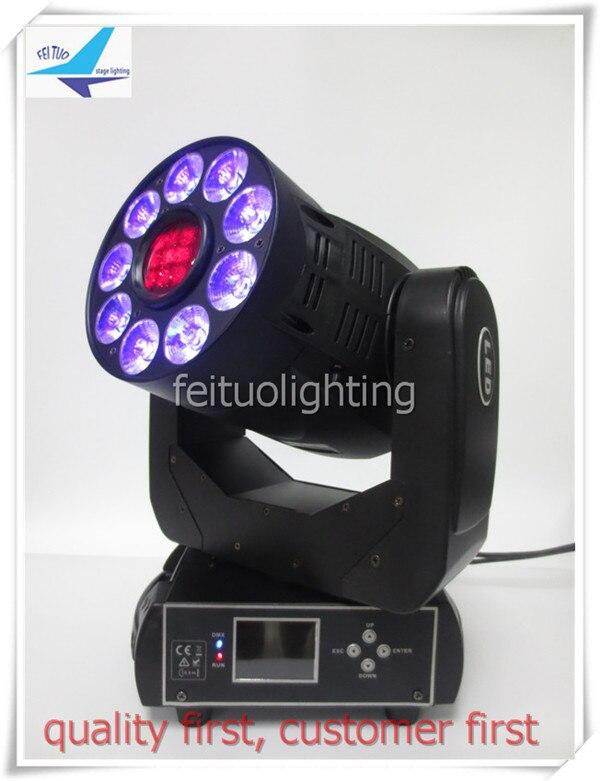 (2/lot)New showtec phantom moving head spot 75w led moving head beam gobo 9x12w uv lights