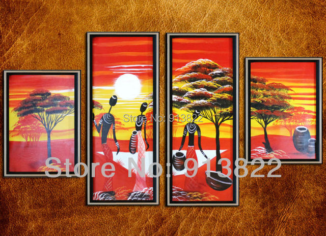 Free Shipping Handmade Oil Paintings on Canvas Modern red art Home decoration Living room