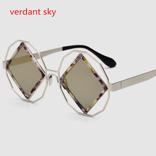 2017 Uv400 New Big box Sunglasses Women  Shield Glasses Women Luxury Brand Design Reflective Coating Sun glasses Original box