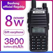 Walkie talkie Baofeng UV 82 Dual Band 136 174MHZ 400 520MHZ 8 วัตต์และ 5 วัตต์ baofeng UV 82 วิทยุวิทยุ Baofeng 82 UV82 HP