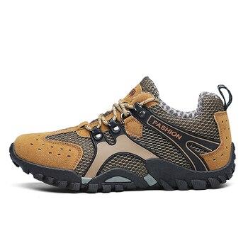 a3266547a63b1 Büyük Boy 38-46 erkek yürüyüş ayakkabıları Nefes Açık trekking ayakkabıları  sneakers Erkekler Dağ tırmanma ayakkabıları zapatillas hombre