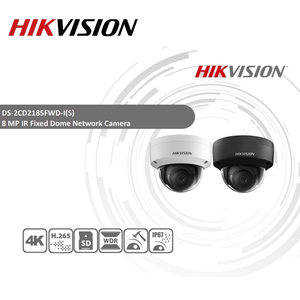 Hikvision oryginalna kamera IP DS-2CD2185FWD-I kamera sieciowa 8MP Dome POE kamera IP H.265 kamera telewizji przemysłowej gniazdo kart sd IK10 IP67