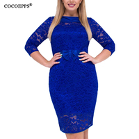 Fashion Big Sizes Lace Dresses Women Spring Dress Sexy Boho Bodycon Dresses 2018 Plus Large Sizes