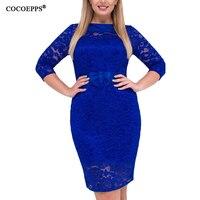 Fashion Big Sizes Lace Dresses Women Spring Dress Sexy Boho Bodycon Dresses 2018 Plus Large Sizes
