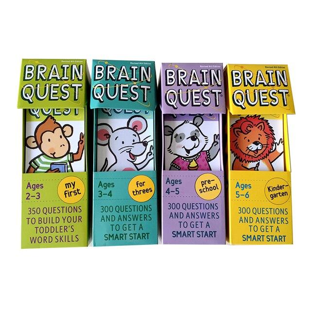Carte autocollante pour le développement intellectuel, carte autocollante cerveau Quest, Version anglaise, pour livre, Questions et réponses, pour enfant