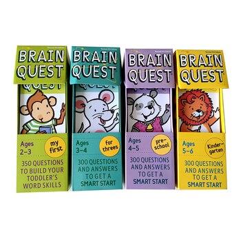 Cerveau Quest Version anglaise de l'autocollant de carte de développement intellectuel livres Questions et réponses carte de démarrage intelligent enfant enfants