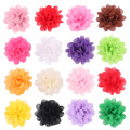 5CM Mini Tulle Chiffon Flowers For Headbands Girls Hair Accessories Flat Back 20 Colors 50PCS/LOT Free Shipping