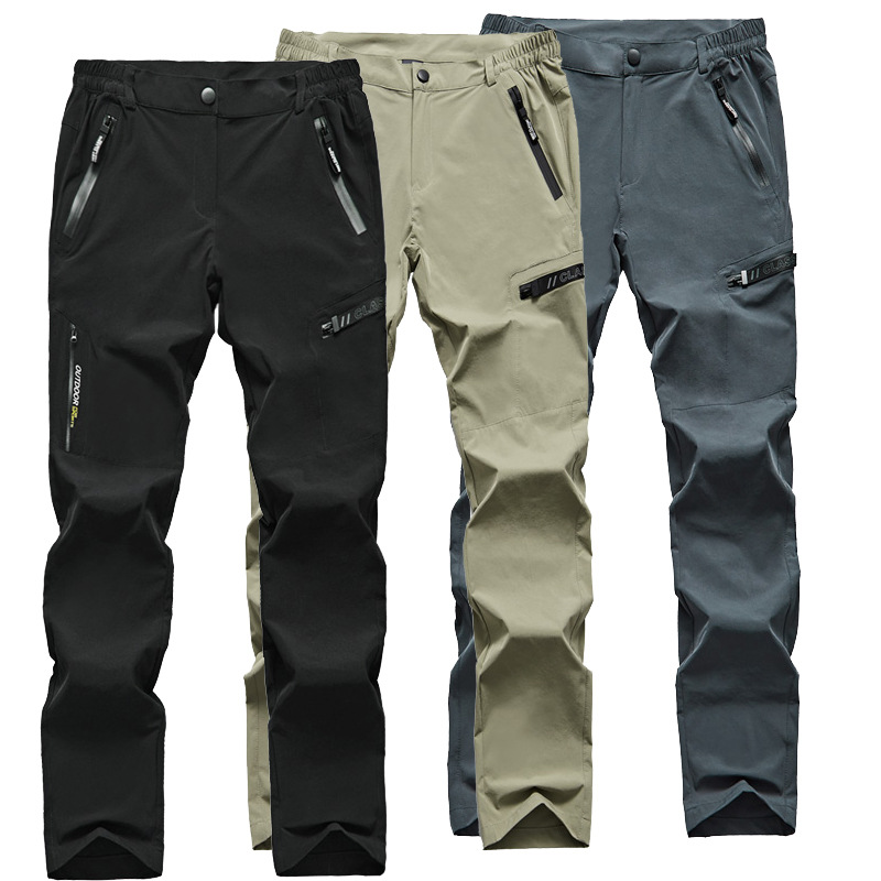 Quick Dry Casual Stretch Pants Men Outdoor Camping Waterproof Hiking Climbing Fishing Pants Thin Breathable Tactical Cargo Pants