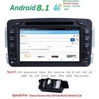 Android 8.1 Car DVD Player For Mercedes/Benz/W209/W203/W168/M/ML/W163/W463/Viano/W639/Vito/Vaneo 2 Din Wifi GPS BT Radio audio