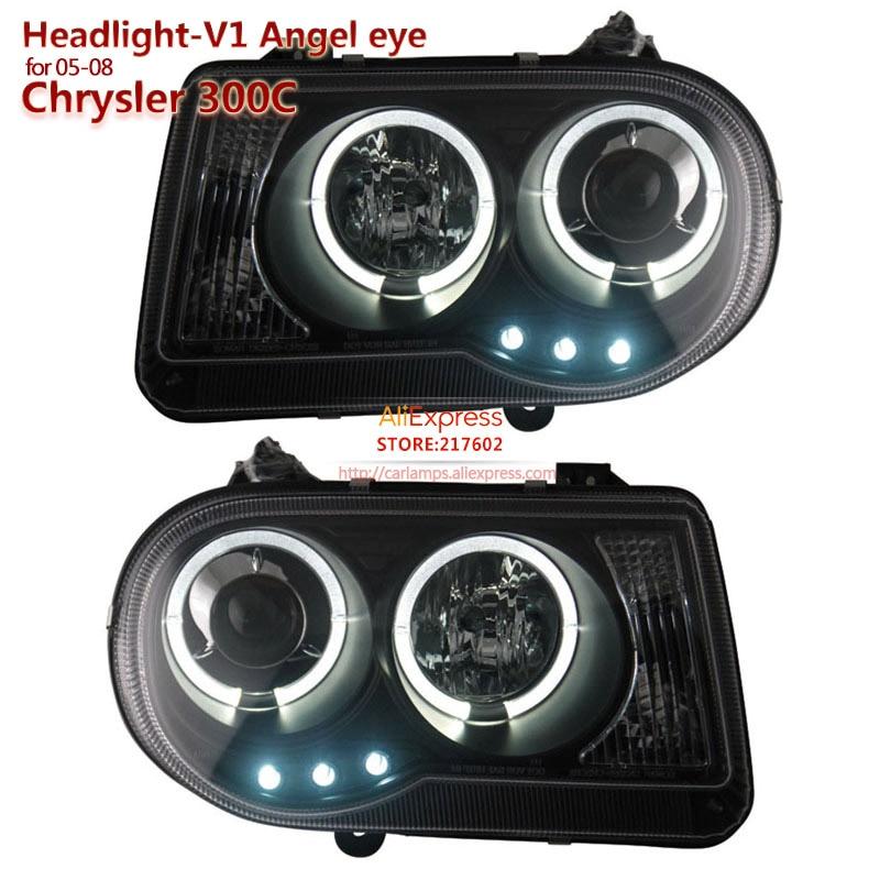 SONAR brand for Chrysler 300C Angel Eye Project Headlights Assembly fit 2005-2010 year models V1 type Easy Installation