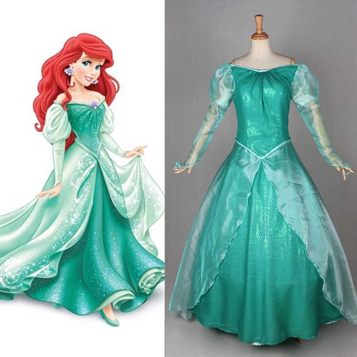 Nuevo Vestido De Princesa Ariel Para Fiesta De Boda De Halloween De Fantasía Hecho A Medida