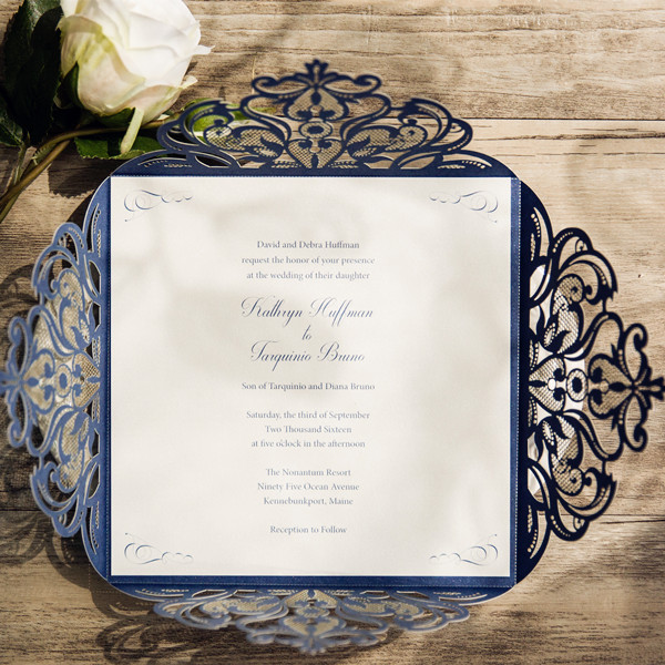 Buy custom made wedding invitations and get free shipping on