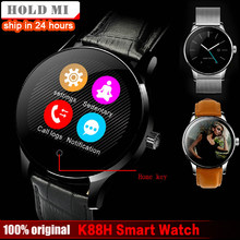 Hold Mi K88H Smart Watch 1.22 Inch IPS Round Screen Support Sport Heart Rate Monitor Bluetooth SmartWatch For IOS Android(China)