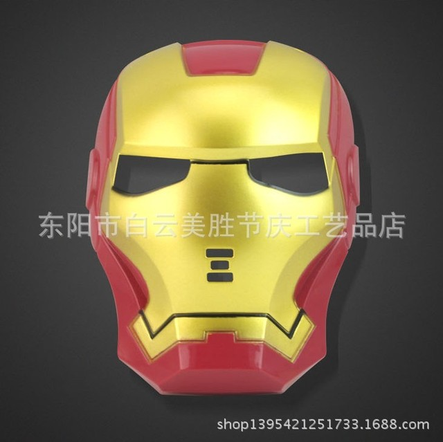 halloween cool cosplay classic iron man mask makeup without light up