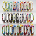50PCS Colorful Wristband Strap Xiaomi Mi Band 2 Bracelet Strap Replacement Band Accessories For Mi Band 2 Silicone Wrist Belt