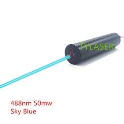 Лазерный диодный модуль небесно-голубого цвета 12 мм 50 мВт 488нм промышленного класса