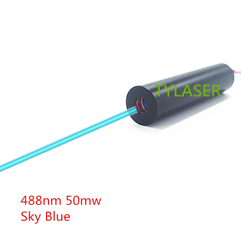 12mm  50mW 488nm Sky Blue Dot Laser Diode Module Industrial Grade TYLASERS
