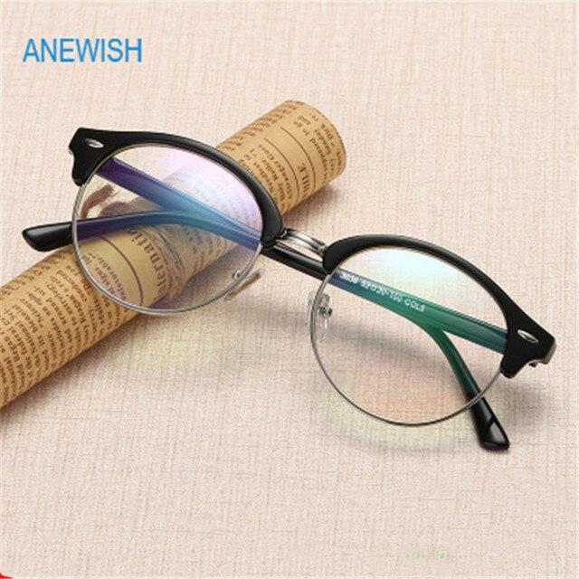 14e40eeaba 2018 Cute Cat eye Vintage eyewear Women Glasses Frame clear lens Round  Eyeglasses men Optical Frames