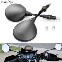 1 Pair Oval Motorcycle Mirror Fit For BMW R1200GS For KAWASAKI Z800 Z1000 Z750 For Honda