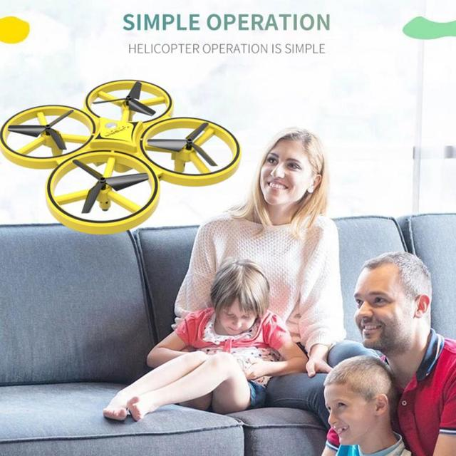New RC Helicopter Drones Drone Professional Foldable Quadcopter With 2.4G remote control watch LED Lighting Gesture Interact 1