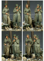 Scale Models 1/ 35 WW2 US Army Officer (2 Figures)    figure Historical WWII Resin Model Free Shipping