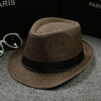 Cotton and Linen Fabric Panama Jazz Hat