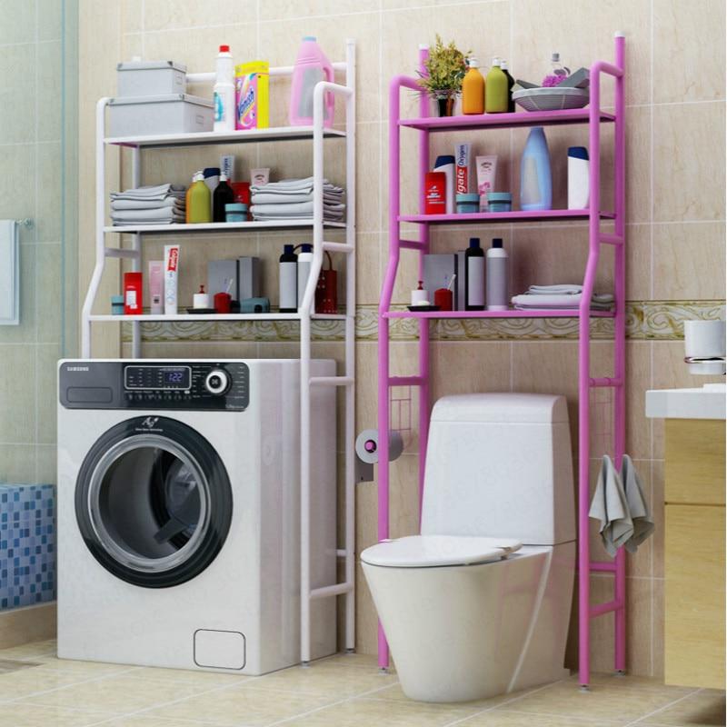 Bathroom:  Bathroom Storage floor stand Shelf Floor Toilet Washbasin Washing Machine Toilet Storage Rack Kitchen shelf - Martin's & Co