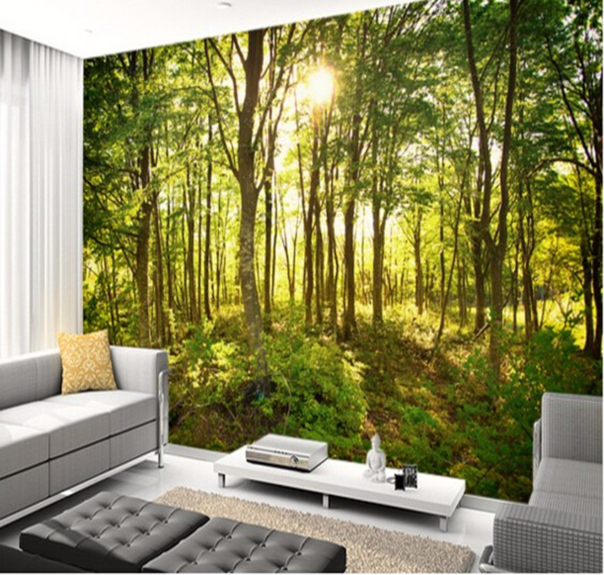 Buy custom natural wallpaper enchanted for 3d nature wallpaper for wall