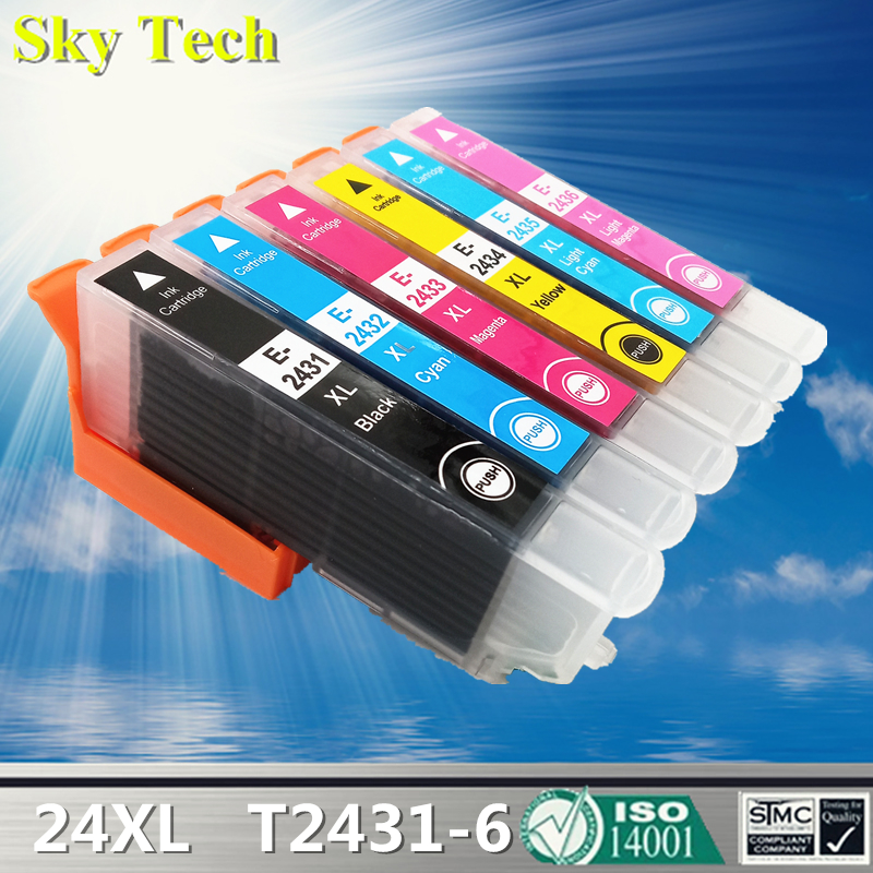 24XL Compatible Cartridges For T2431   T2436   For Epson expression Photo XP 55 XP 750 XP 760 XP 850 XP 860 XP 950 XP 960 etc|Ink Cartridges| |  - title=