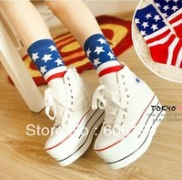 A241 Personality cotton stripe Women winter socks manufacturer wholesale 10pair/lot Free Shipping
