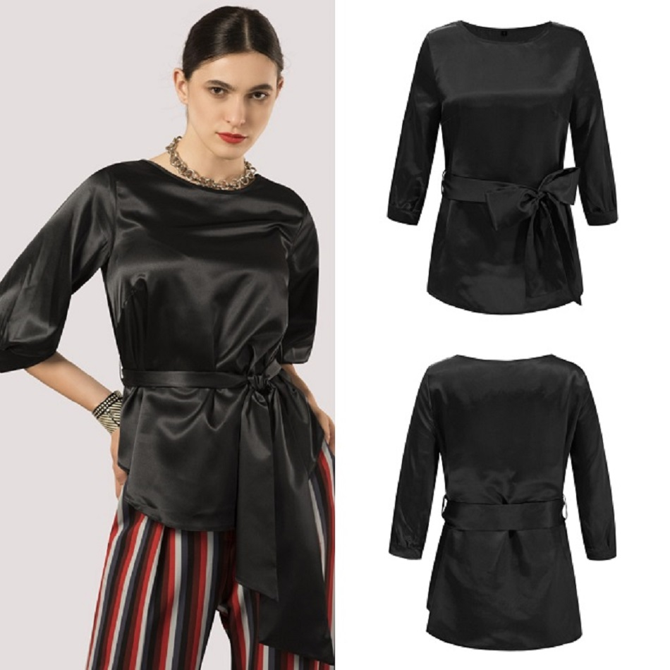 Female T shirt fashion women 39 s summer t shirt women new arrivals hot 2019 lace bow irregular sleeves jacket jurassic park in T Shirts from Women 39 s Clothing
