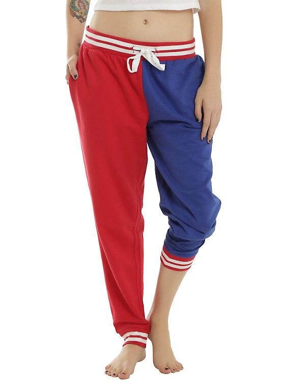 SUICIDE SQUAD HARLEY QUINN Property of Joker GIRLS JOGGER Hiphop casual pants women cosplay sweatpants harem pants