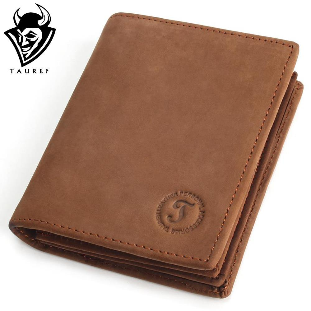 Crazy Horse Handmade Wallet Leather Men Simple Wallets Multi-Functional Cowhide Coin Purse Genuine Leather Wallet simline vintage handmade genuine crazy horse leather cowhide men long clutch wallet wallets purse with chain rope zipper pocket
