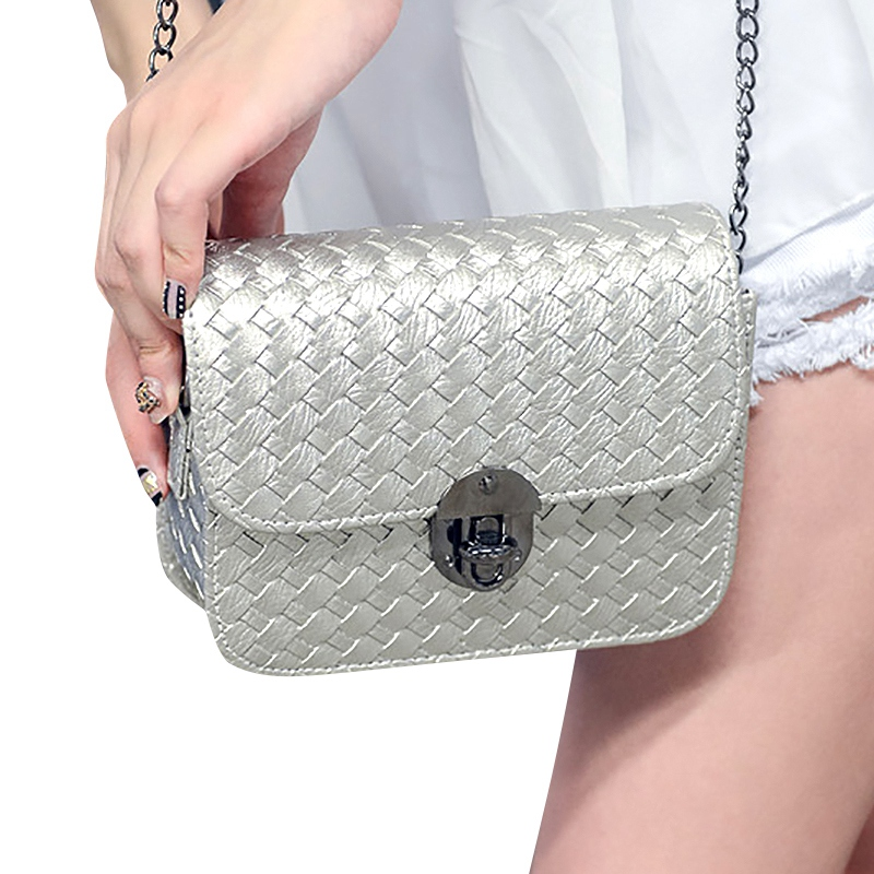 AUAU-Chain Handbags Tide Small Square Package Fashion Woman Shoulder Bag Han Edition Messenger Bag